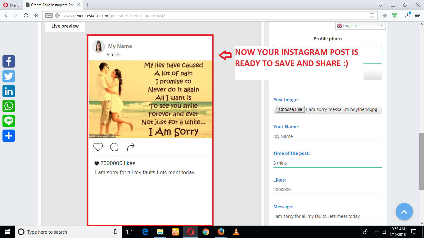 HOW TO MAKE FAKE INSTAGRAM POST